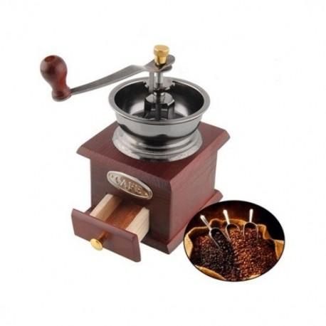Retro ruční mlýnek na kávu i koření