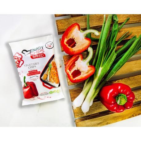 Chips ENJOY pečené - červená paprika a jarní cibulka