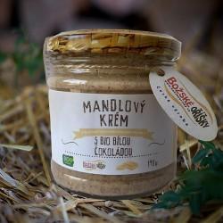 190 g Mandlový krém s BIO bílou čokoládou