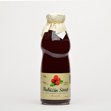 500 ml Babiččin ovocný sirup Brusinka