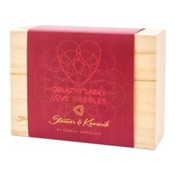 150 g OBLÁZKY LÁSKY - Mandle v Ruby čokoládě ve zlaté krabičce