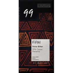 80 g VIVANI - hořká čokoláda BIO Vegan 99 %