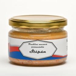 Tradiční masová pomazánka Štěpán s příchutí česneku a chilli 250 g