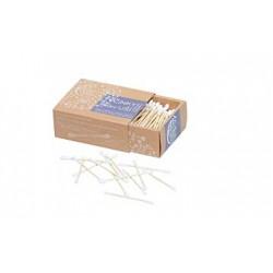 Tyčinky na čistění uší – z bambusu a biobavlny 200 kusů