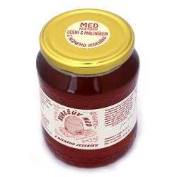 750 g Kubešův med květový lesní s maliníkem z rodinné včelařské farmy