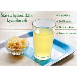 Zelová voda -Šťáva z bystročického kysaného zelí 1 l